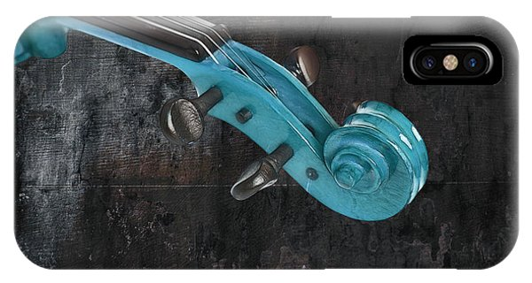 Violinelle - Turquoise 05a2 IPhone Case