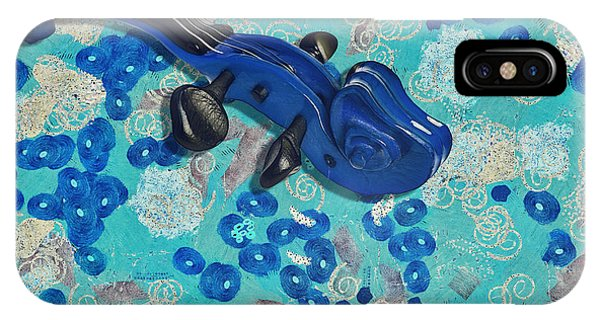 Aqua iPhone Case - Violinelle - V02-10c by Variance Collections