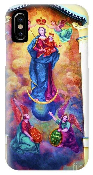Virgin Mary Mural IPhone Case