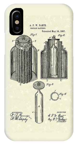 Voltaic Battery 1887 Patent Art IPhone Case