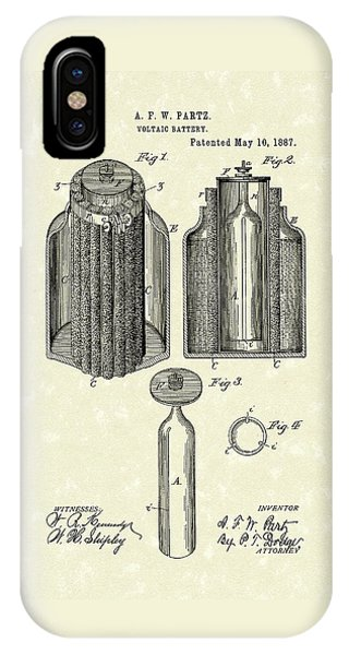 Voltaic Battery 1887 Patent Art IPhone Case