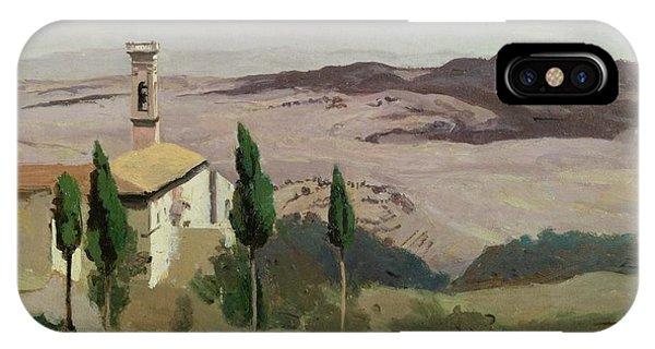Barren iPhone Case - Volterra by Jean Baptiste Camille Corot