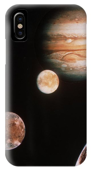 Voyager Mosaic Of Jupiter & Its 4 Galilean Moons IPhone Case