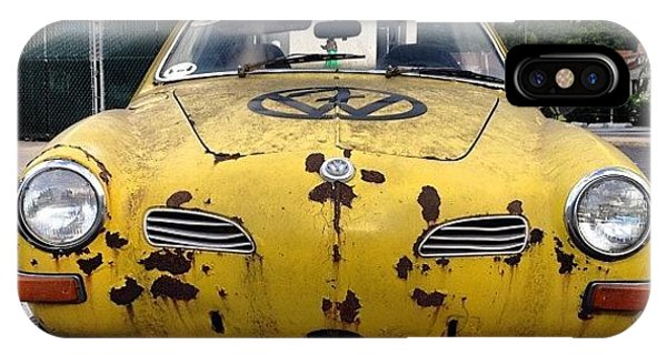 Volkswagen iPhone Case - #vw #volkswagen Karmann Ghia #cars by Simon Prickett