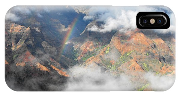 Waimea Canyon Rainbow IPhone Case