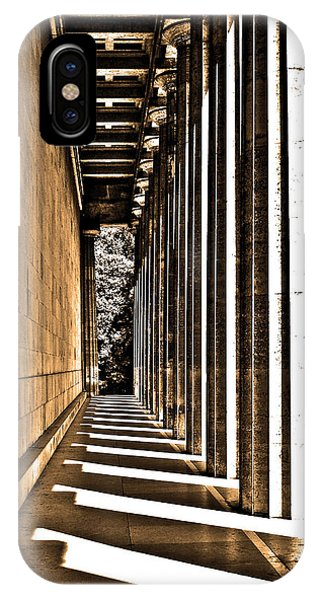 Sonne iPhone Case - Walhalla Colonnade ... by Juergen Weiss