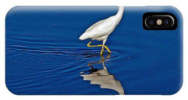 Walking Egret IPhone Case
