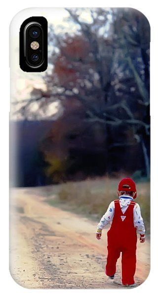 Walking On Pawpaw's Road IPhone Case
