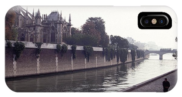 Walking The Dog Along The Seine IPhone Case