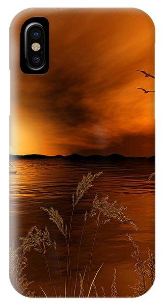 Warmth Ablaze - Gold Art IPhone Case