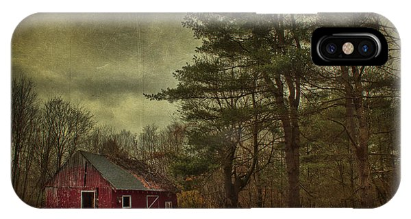 New England Barn iPhone Case - Watching Over Me by Evelina Kremsdorf