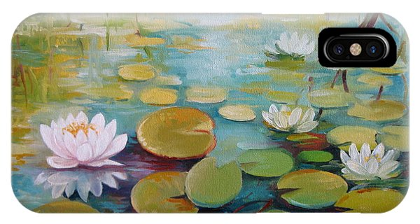 Water Lilies On The Pond IPhone Case