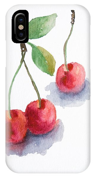 Watercolor Cherry  IPhone Case