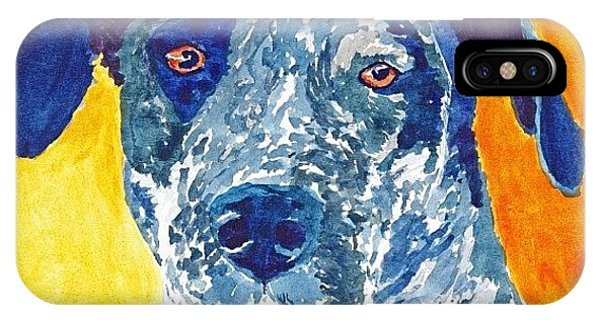 Watercolor iPhone Case - Watercolour Of Dog In Alte by Ruca Cao