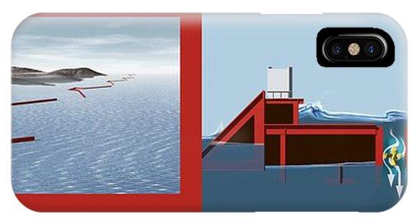 Wave Energy Converter, Diagram Phone Case by Claus Lunau