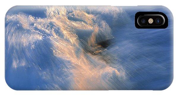 Wave Striking Rock Phone Case by G. Brad Lewis