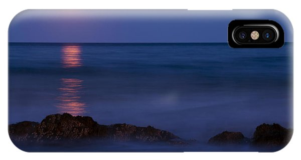 Wells Beach Maine Moonrise IPhone Case