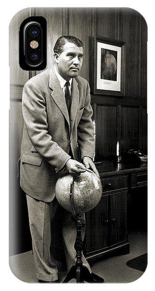 Wernher Von Braun, German Rocket Pioneer Phone Case by Nasavrs