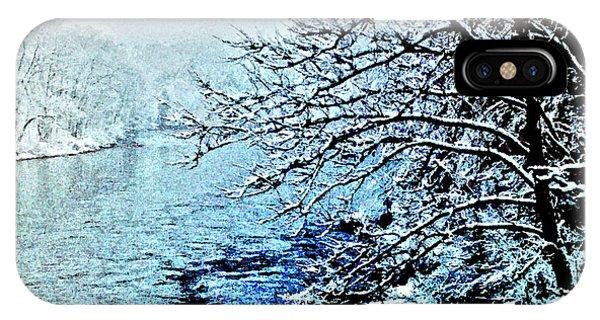 West River Snow IPhone Case