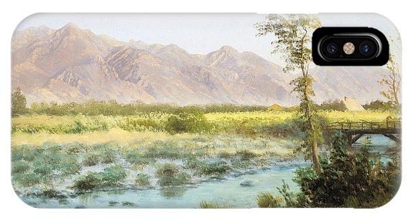 Barren iPhone Case - Western Landscape by Albert Bierstadt