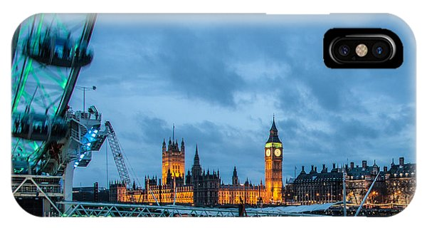 St. Patricks Day iPhone Case - Westminster And The London Eye by Dawn OConnor
