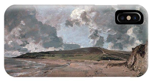 Barren iPhone Case - Weymouth Bay With Jordan Hill by John Constable
