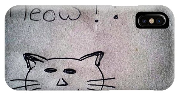 Funny iPhone Case - What My Room Mates Draw! #cat #drawing by Abdelrahman Alawwad