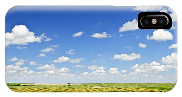 Cloud iPhone Case - Wheat Farm Field At Harvest by Elena Elisseeva