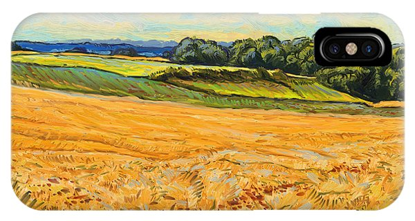 Briex iPhone Case - Wheat Field In Limburg by Nop Briex