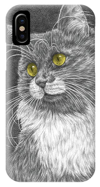 Whiskers - Color Tinted Art Print IPhone Case