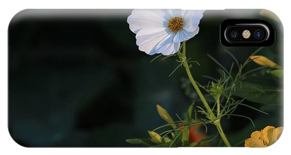 White Cosmos And Four O'clock Floral Phone Case by Marjorie Imbeau