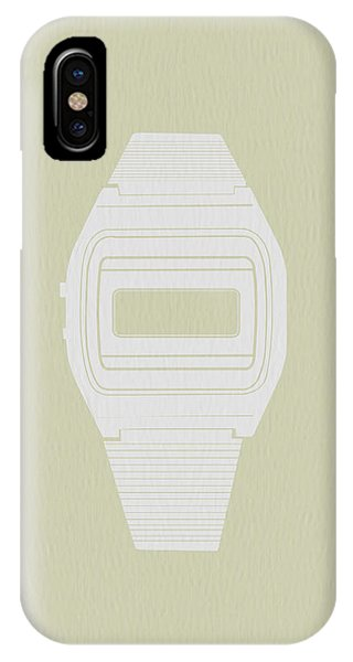 Electronic iPhone Case - White Electronic Watch by Naxart Studio