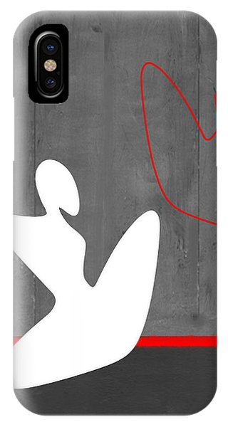 Abstract Figurative iPhone Case - White Girl by Naxart Studio