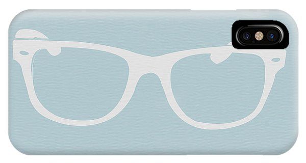 Reading iPhone Case - White Glasses by Naxart Studio