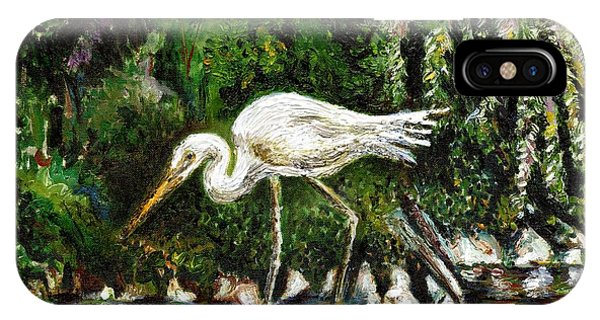 White Heron IPhone Case