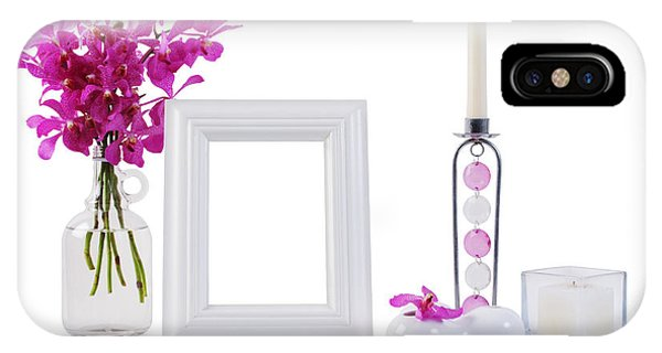 White Picture Frame In Decoration IPhone Case