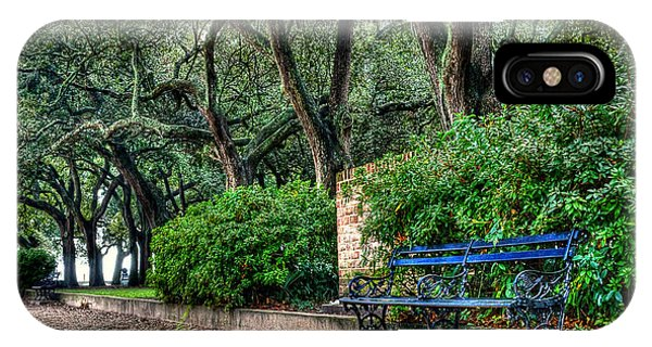 White Point Gardens Bench Phone Case by Jenny Ellen Photography