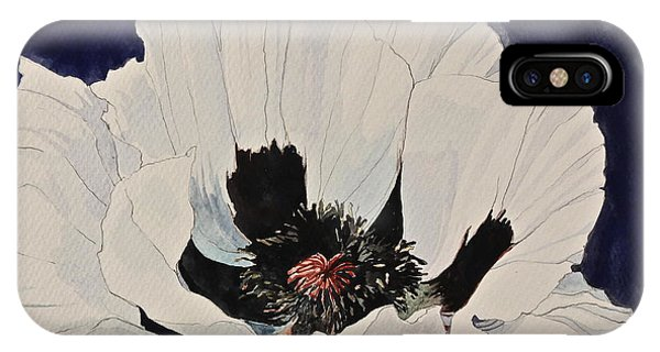 White Poppy-posthumously Presented Paintings Of Sachi Spohn  IPhone Case