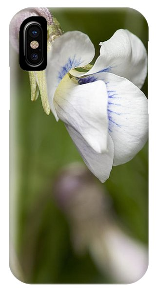 White Violet Macro IPhone Case