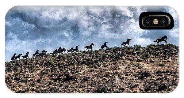 Wild Horses Monument IPhone Case