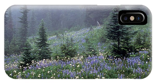 Wildflower Meadow Mt Rainier IPhone Case