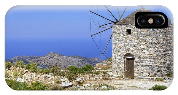 Greece iPhone X Case - wind mill Naxos by Joana Kruse