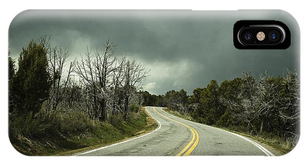 Winding Two Lane Road Phone Case by Ned Frisk