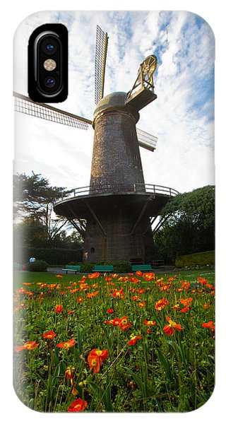 Windmill And Poppies IPhone Case
