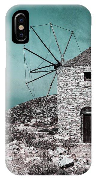 Greece iPhone Case - Windmill by Joana Kruse