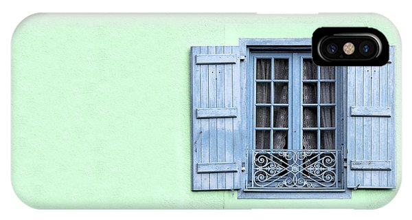Ironwork iPhone Case - Window With Copy Space by Jane Rix