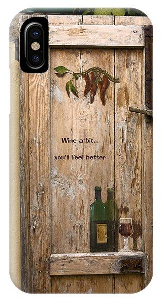 Wine A Bit Door IPhone Case
