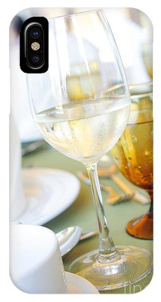 Menu iPhone Case - Wineglass by Atiketta Sangasaeng