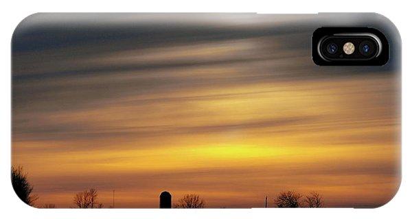 Winter Farm Sunset IPhone Case