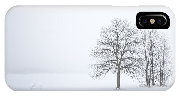 Winter Fog And Trees IPhone Case